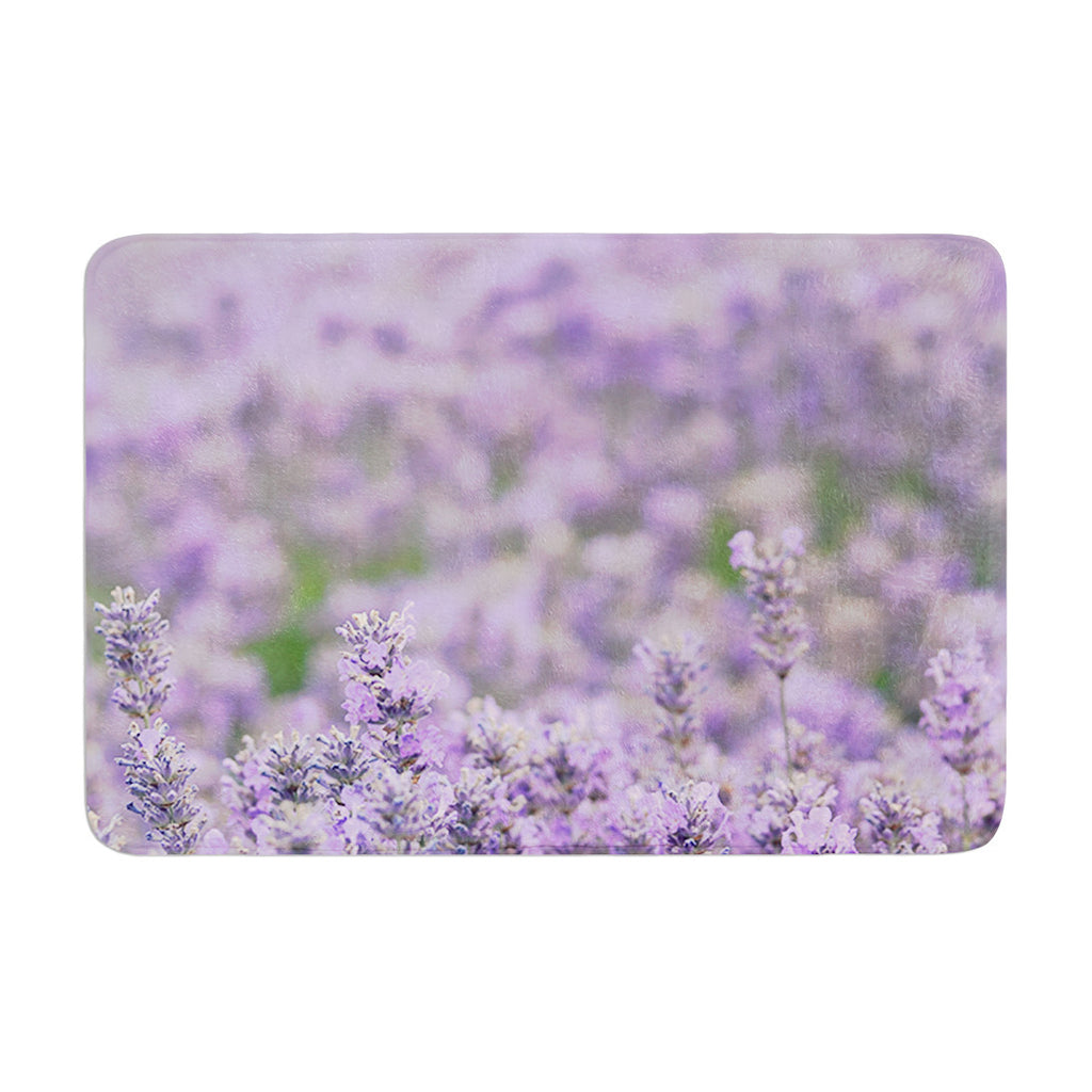 "Robin Dickinson ""Everywhere"" Lavender Purple Memory Foam Bath Mat - KESS InHouse"