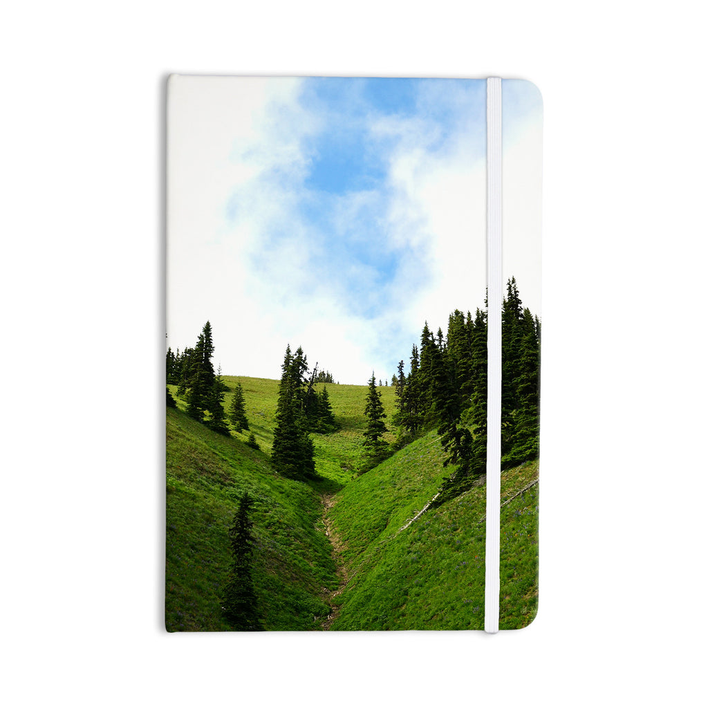 "Robin Dickinson ""Going to the Mountains"" Green Blue Everything Notebook - KESS InHouse  - 1"