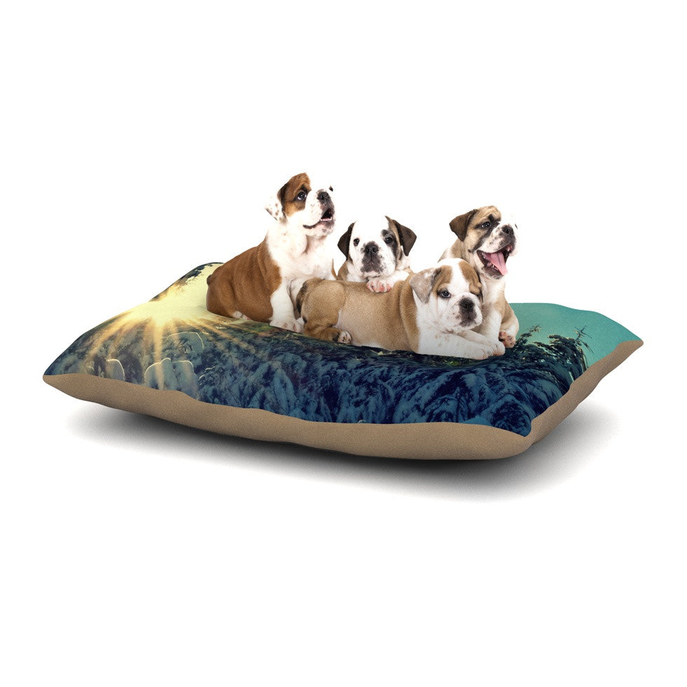 "Robin Dickinson ""Shine Bright"" Snowy Trees Dog Bed - KESS InHouse  - 1"
