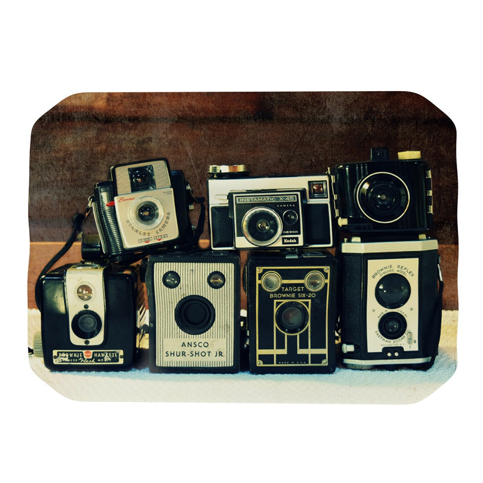 "Robin Dickinson ""Through the Years"" Vintage Camera Place Mat - KESS InHouse"