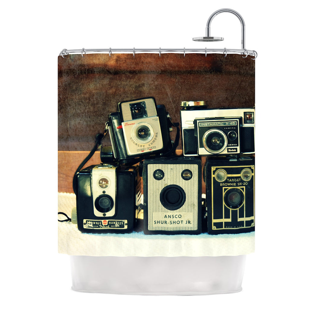 "Robin Dickinson ""Through the Years"" Vintage Camera Shower Curtain - KESS InHouse"