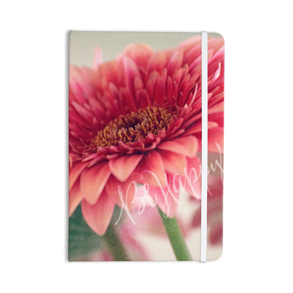 "Robin Dickinson ""Be Happy"" Pink Floral Everything Notebook - KESS InHouse  - 1"