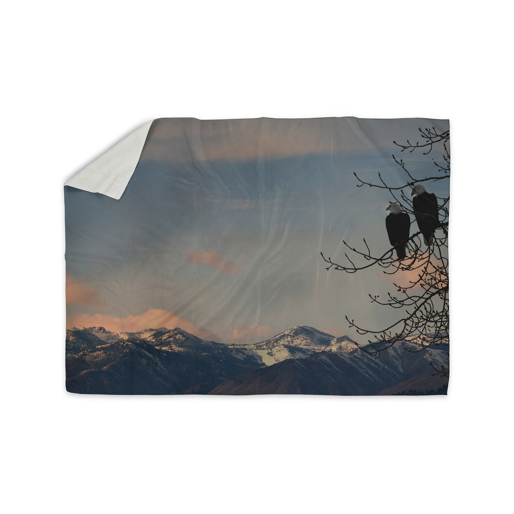 "Robin Dickinson ""Majesty"" Nature Landscape Sherpa Blanket - KESS InHouse  - 1"