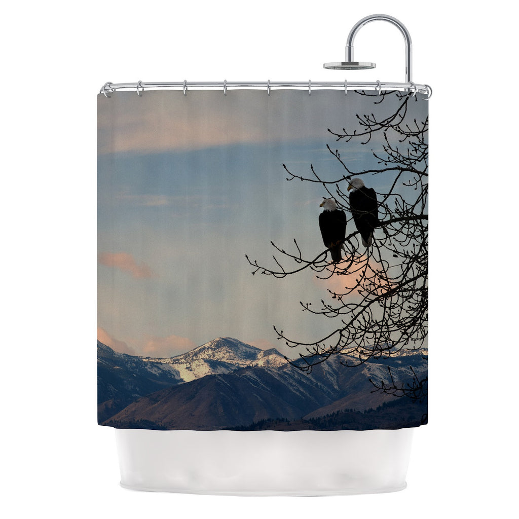 "Robin Dickinson ""Majesty"" Nature Landscape Shower Curtain - KESS InHouse"