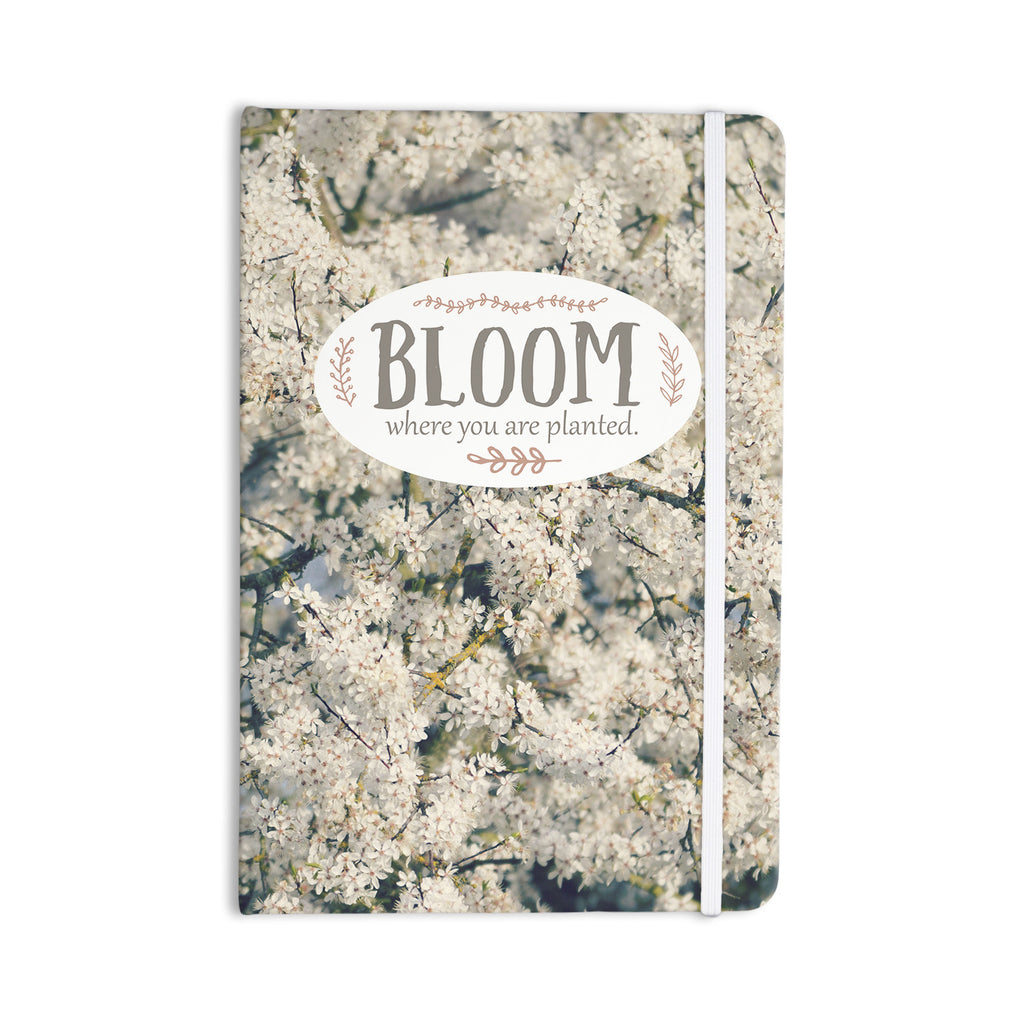 "Robin Dickinson ""Bloom Where You Are Planted"" White Floral Everything Notebook - KESS InHouse  - 1"
