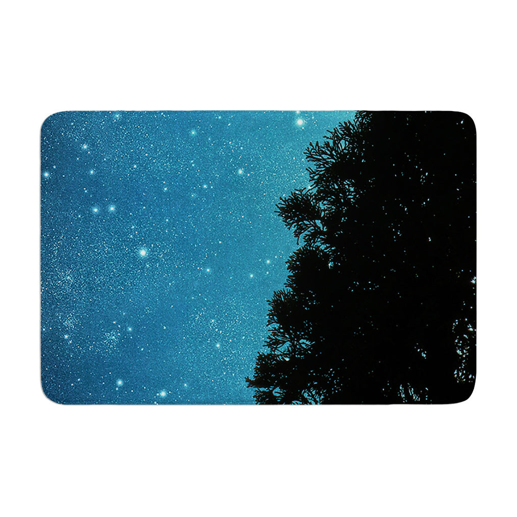 "Robin Dickinson ""Star Light"" Celestial Forest Memory Foam Bath Mat - KESS InHouse"