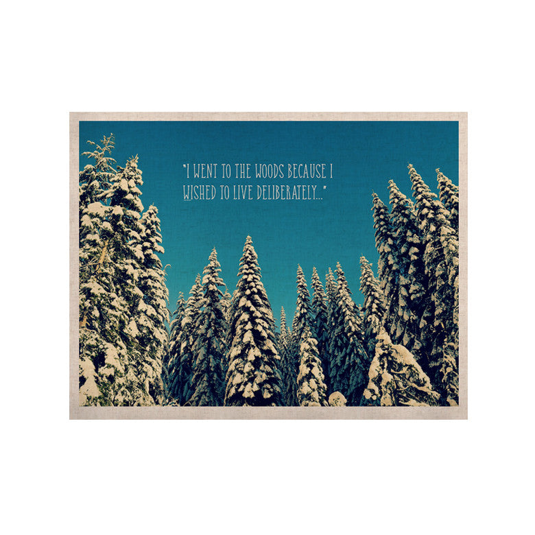 "Robin Dickinson ""I Went to the Woods"" Blue White KESS Naturals Canvas (Frame not Included) - KESS InHouse  - 1"