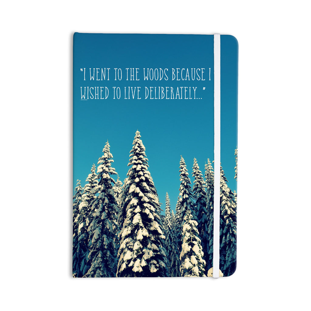 "Robin Dickinson ""I Went to the Woods"" Blue White Everything Notebook - KESS InHouse  - 1"