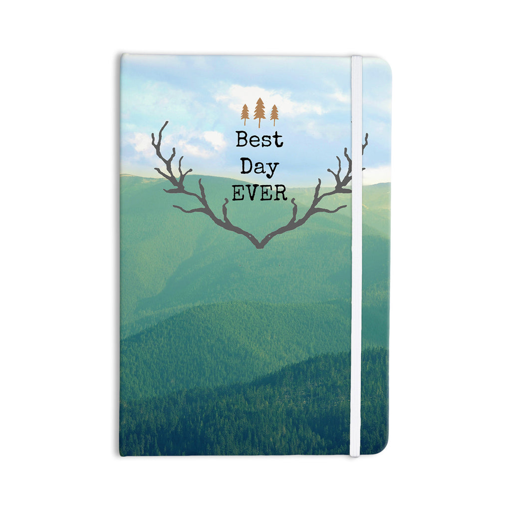 "Robin Dickinson ""Best Day Ever"" Teal Landscape Everything Notebook - KESS InHouse  - 1"