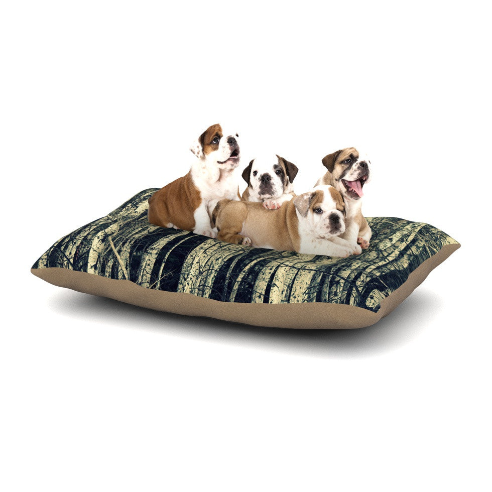 "Robin Dickinson ""Birch"" Beige Tan Dog Bed - KESS InHouse  - 1"