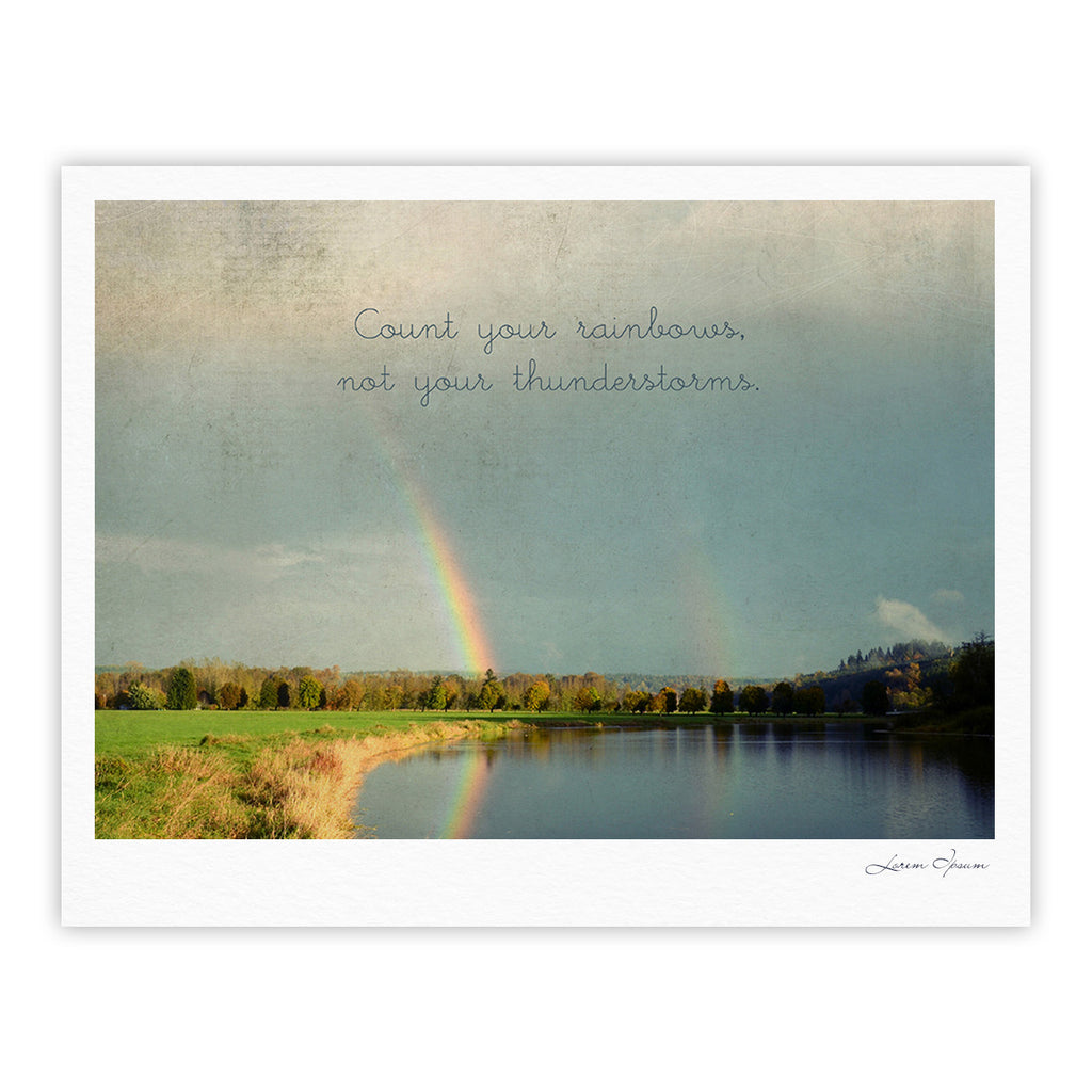 "Robin Dickinson ""Count Rainbows"" Nature Typography Fine Art Gallery Print - KESS InHouse"