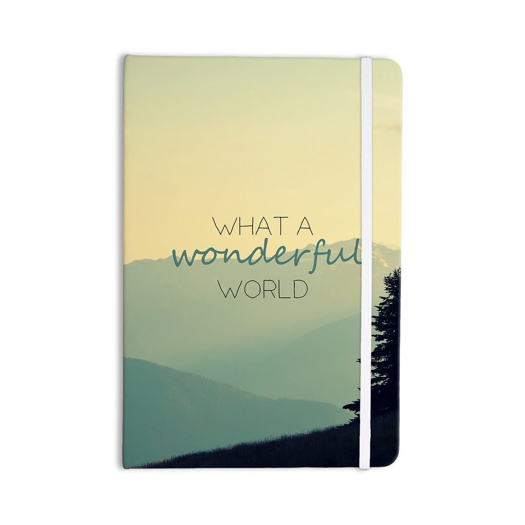 "Robin Dickinson ""What A Wonderful World"" Teal Tan Everything Notebook - KESS InHouse  - 1"
