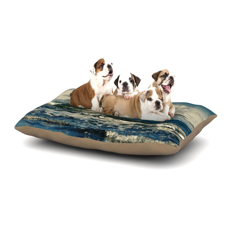 "Robin Dickinson ""Forever Young"" Blue Coastal Dog Bed - KESS InHouse  - 1"