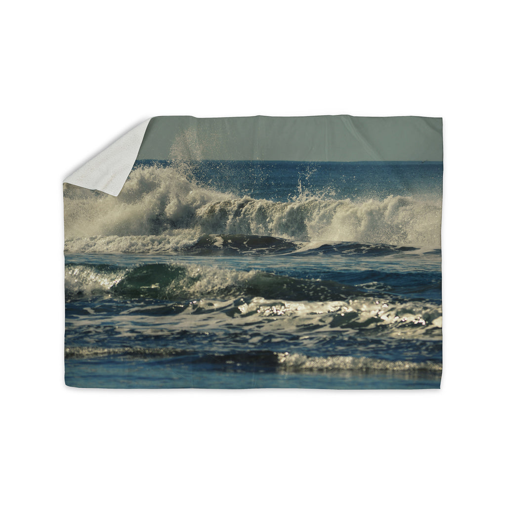 "Robin Dickinson ""Forever Young"" Blue Coastal Sherpa Blanket - KESS InHouse  - 1"