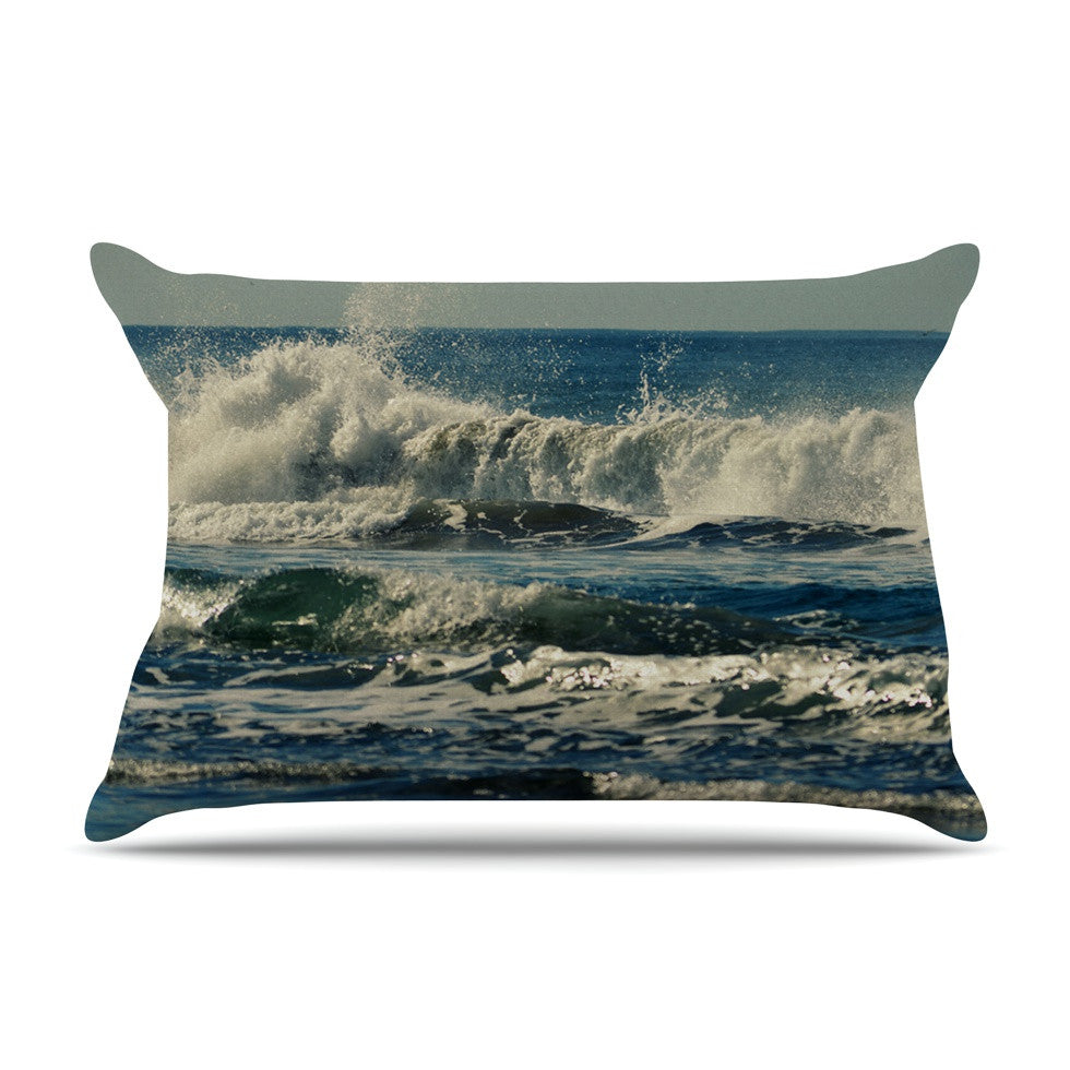 "Robin Dickinson ""Forever Young"" Blue Coastal Pillow Sham - KESS InHouse"