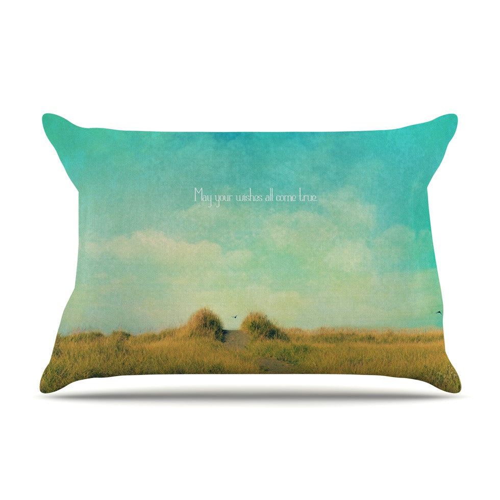"Robin Dickinson ""May Your Wishes"" Blue Brown Pillow Sham - KESS InHouse"