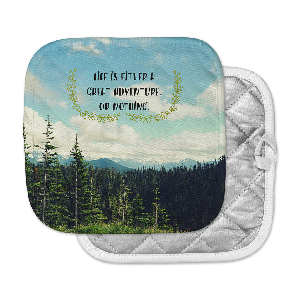 "Robin Dickinson ""Life Is..."" Landscape Typography Pot Holder"