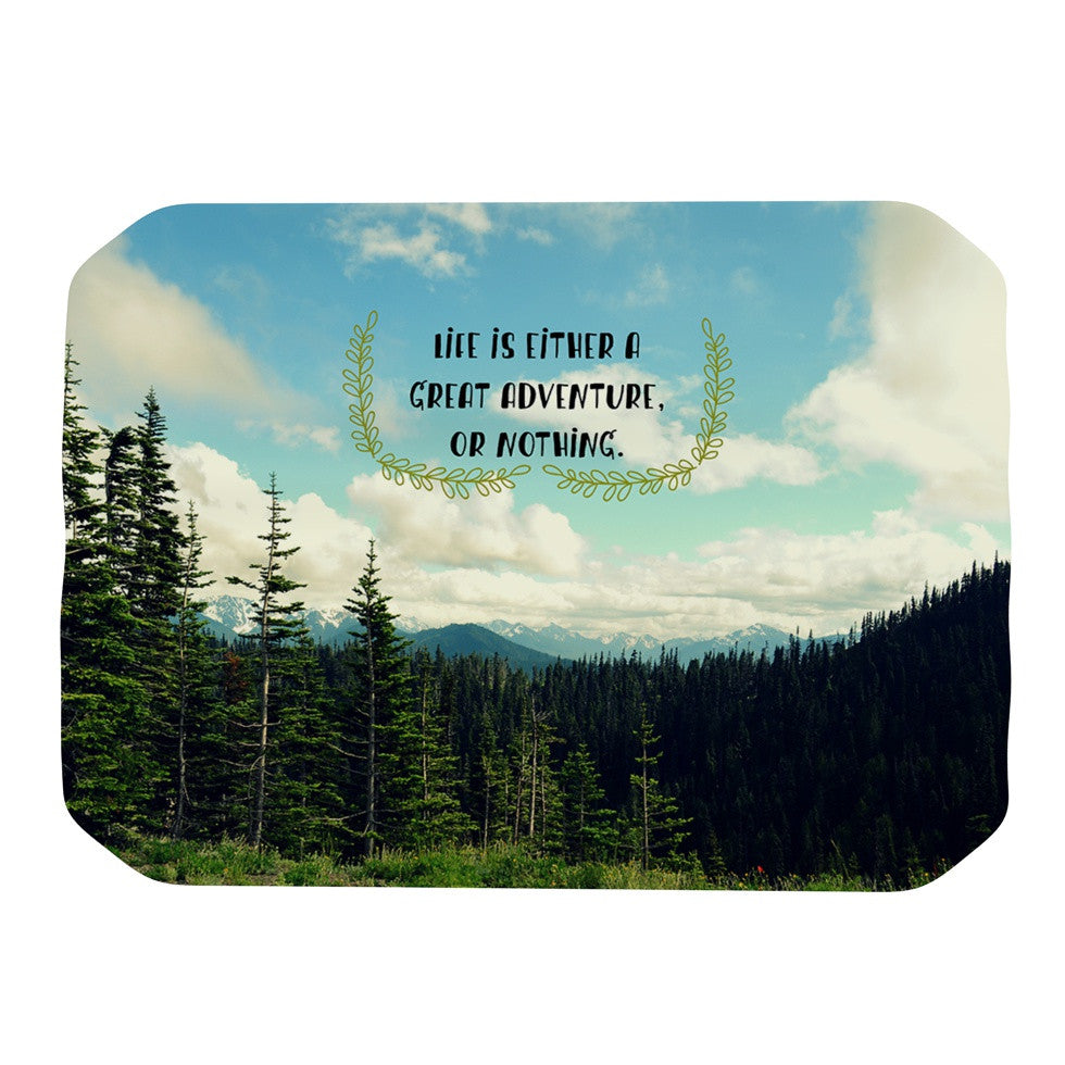 "Robin Dickinson ""Life Is..."" Landscape Typography Place Mat - KESS InHouse"
