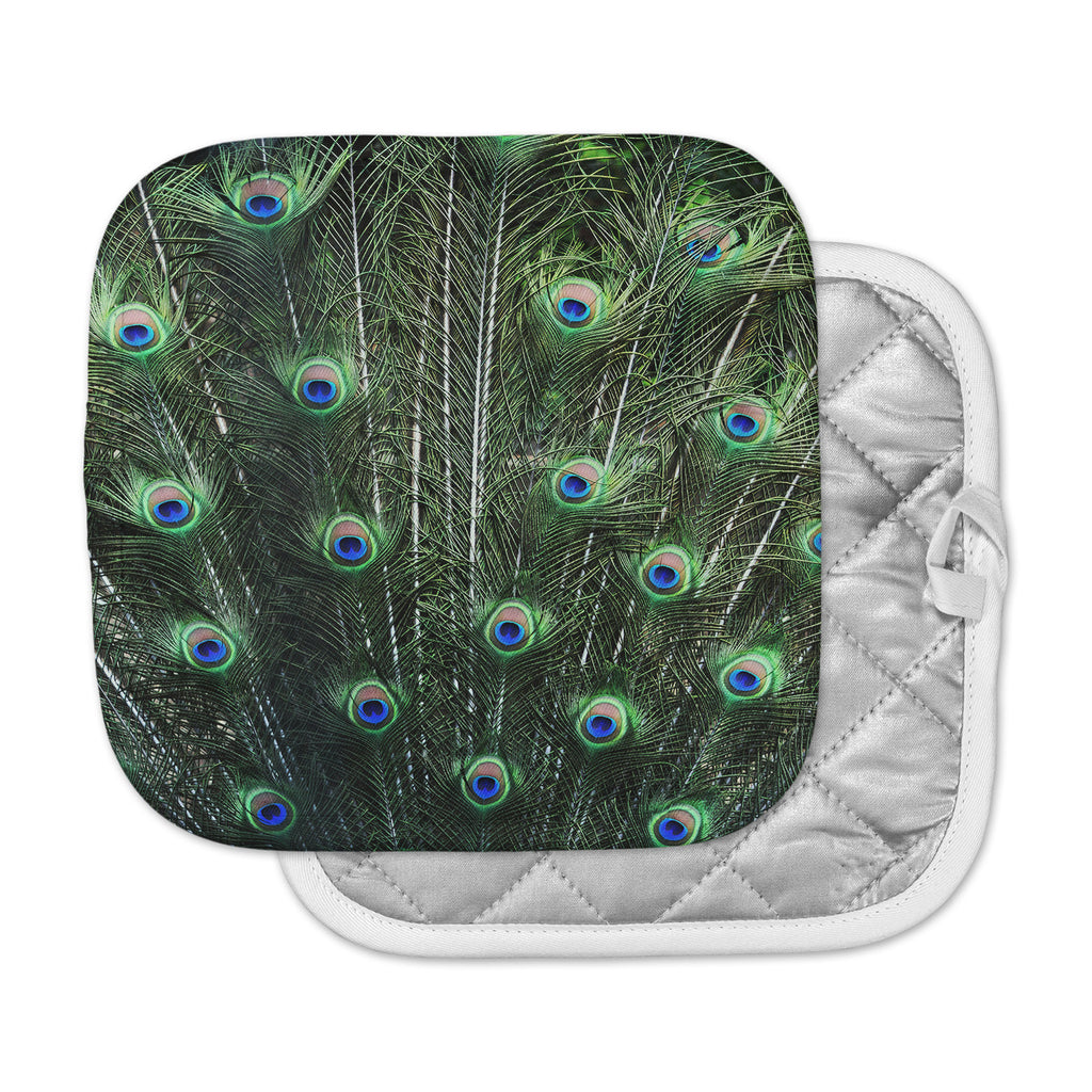 "Robin Dickinson ""Glory"" Peacock Green Pot Holder"