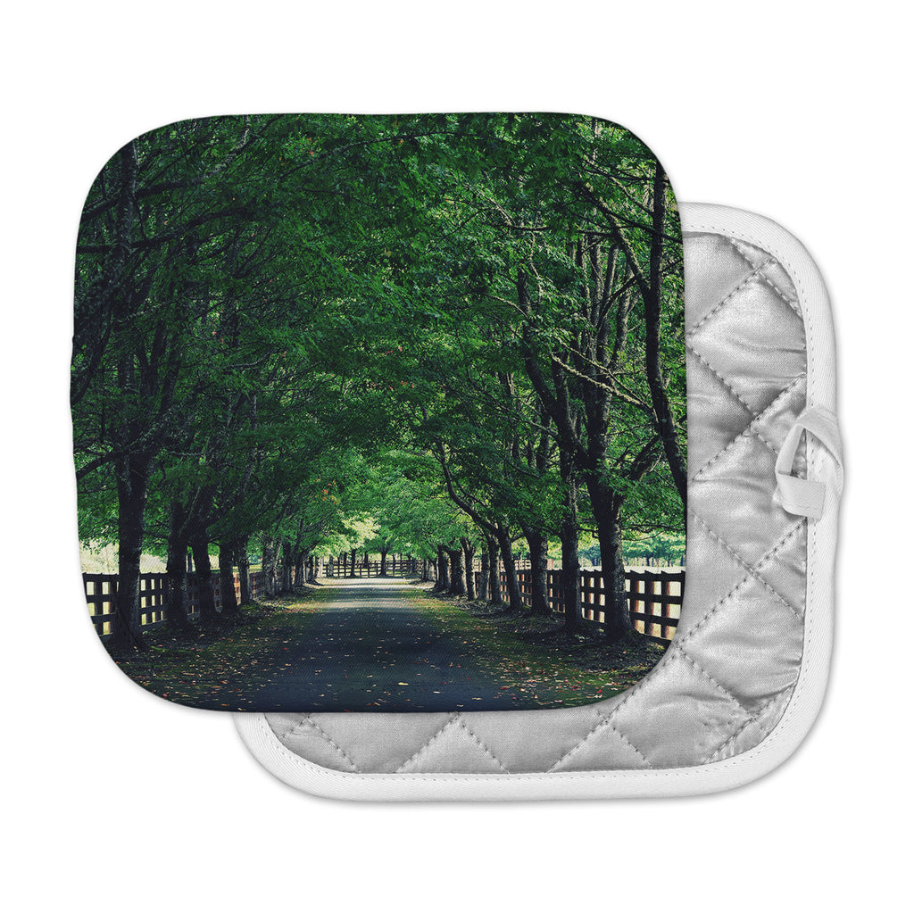 "Robin Dickinson ""Welcome Home"" Green Trees Pot Holder"