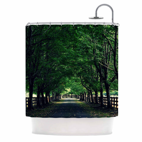 "Robin Dickinson ""Welcome Home"" Green Trees Shower Curtain - Outlet Item - KESS InHouse"