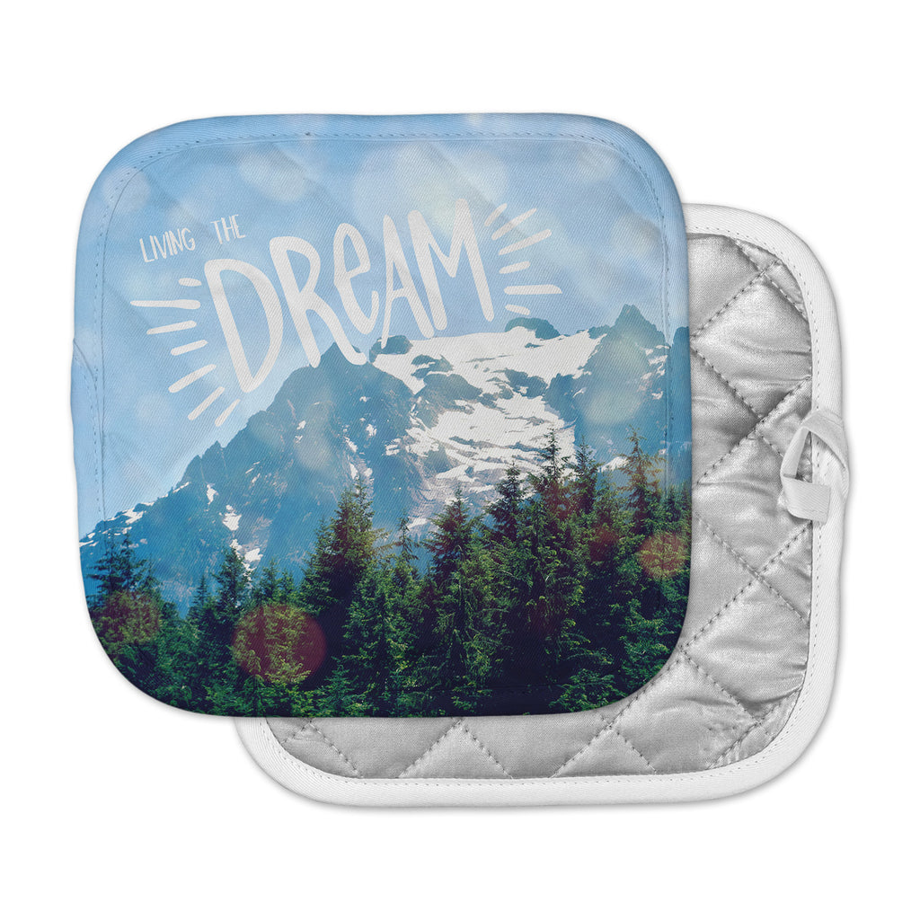 "Robin Dickinson ""The Dream"" Blue Green Photography Pot Holder"