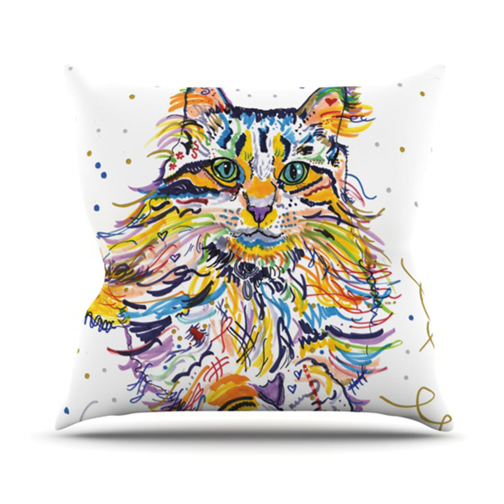 "Rebecca Fischer ""Leo"" Throw Pillow - KESS InHouse  - 1"