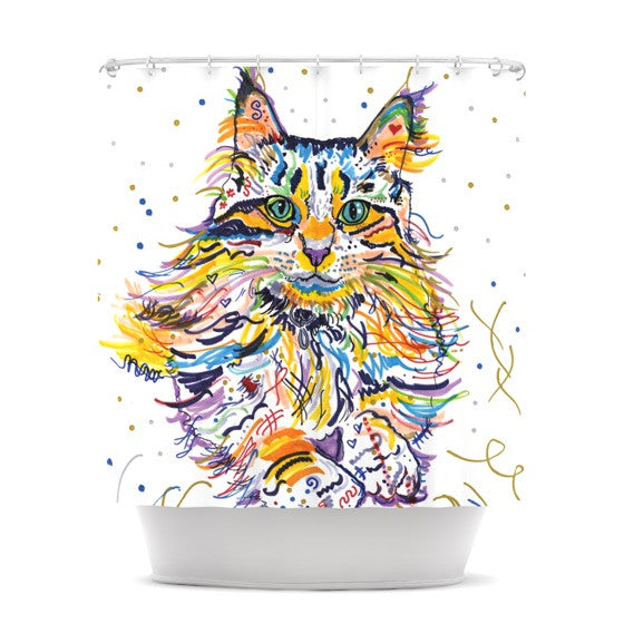 "Rebecca Fischer ""Leo"" Shower Curtain - KESS InHouse"