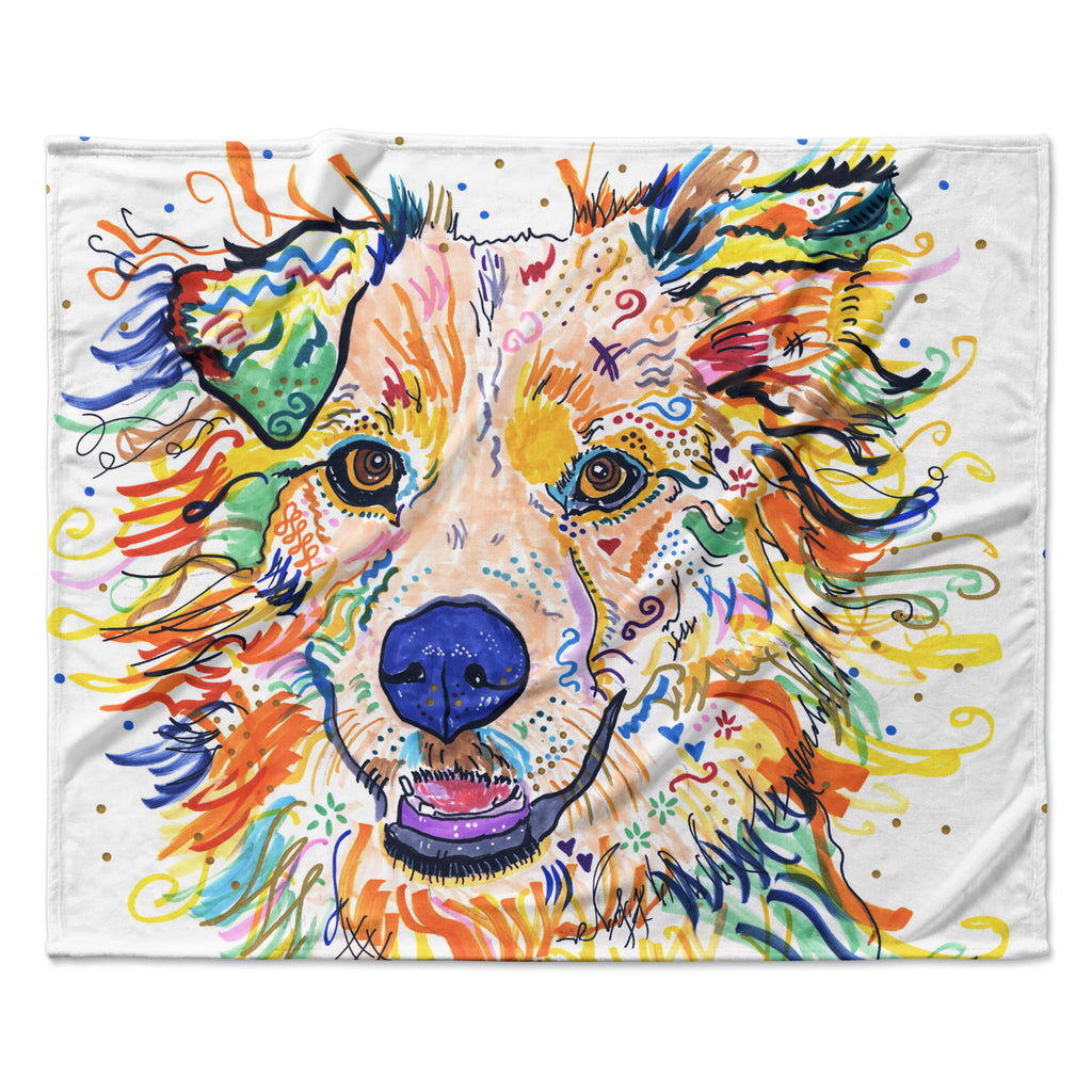 "Rebecca Fischer ""Jess"" Fleece Throw Blanket"