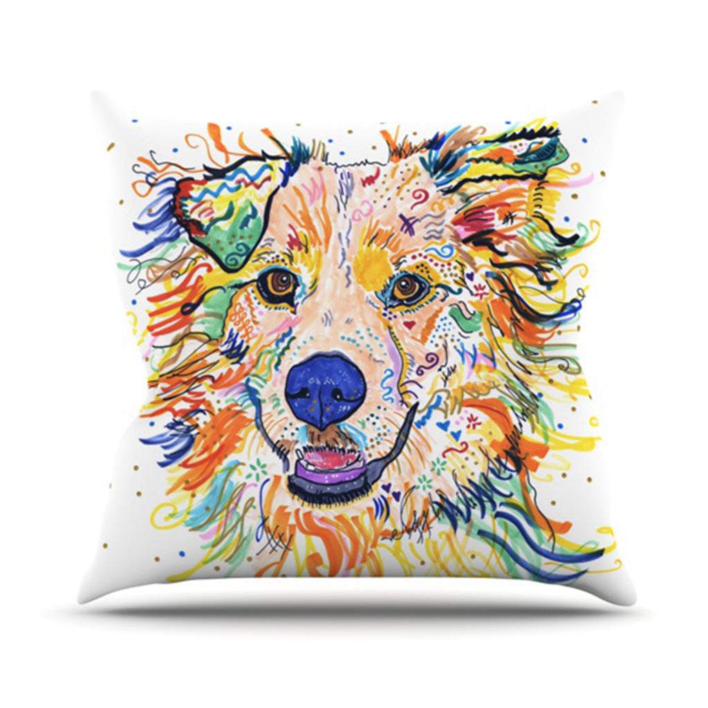 "Rebecca Fischer ""Jess"" Throw Pillow - KESS InHouse  - 1"