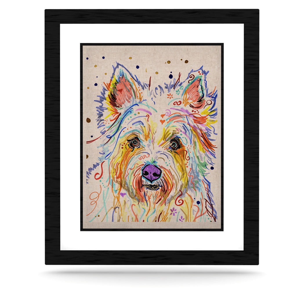 "Rebecca Fischer ""Bella"" Scottish Terrier KESS Naturals Canvas (Frame not Included) - KESS InHouse  - 1"