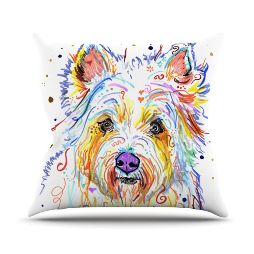 "Rebecca Fischer ""Bella"" Scottish Terrier Throw Pillow - KESS InHouse  - 1"