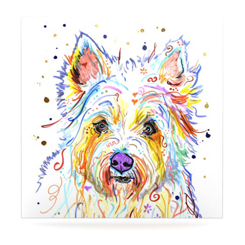 "Rebecca Fischer ""Bella"" Scottish Terrier Luxe Square Panel - KESS InHouse  - 1"