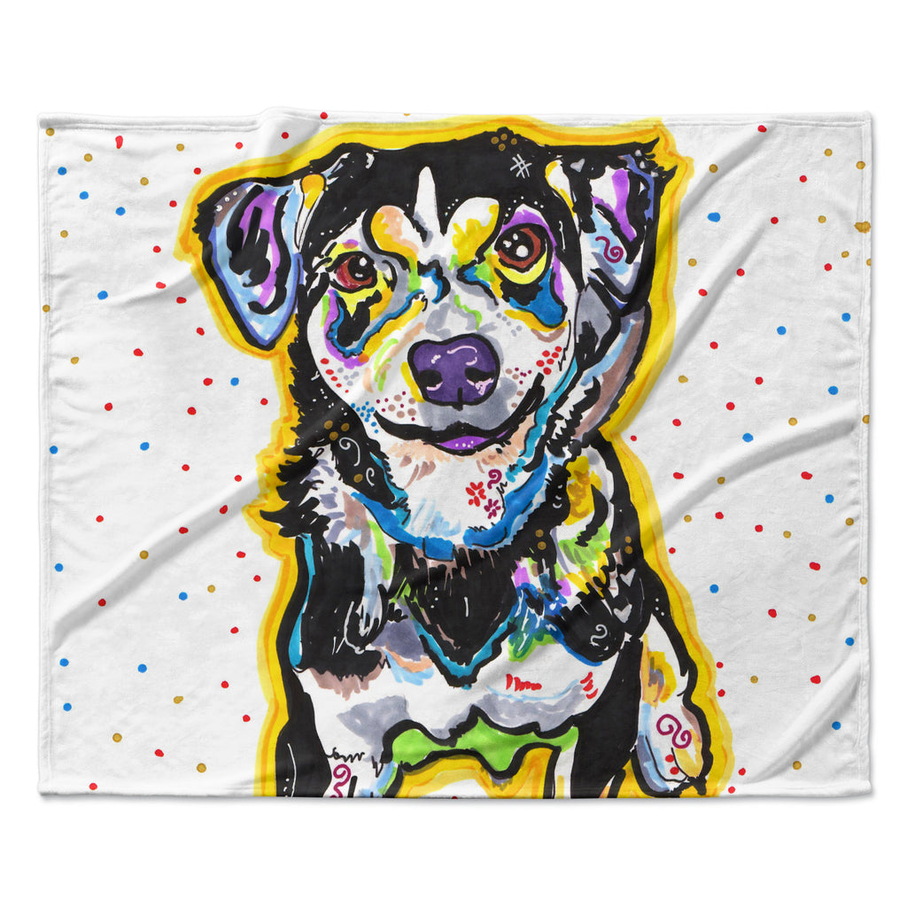 "Rebecca Fischer ""Jasper"" Fleece Throw Blanket"