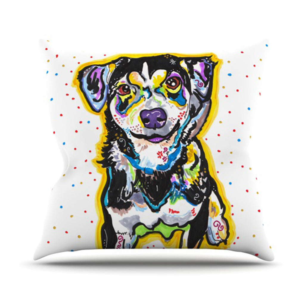 "Rebecca Fischer ""Jasper"" Throw Pillow - KESS InHouse  - 1"