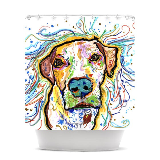 "Rebecca Fischer ""Ernie"" Shower Curtain - KESS InHouse"
