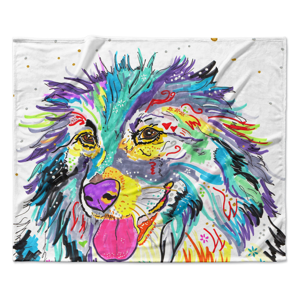 "Rebecca Fischer ""Dally"" Fleece Throw Blanket"
