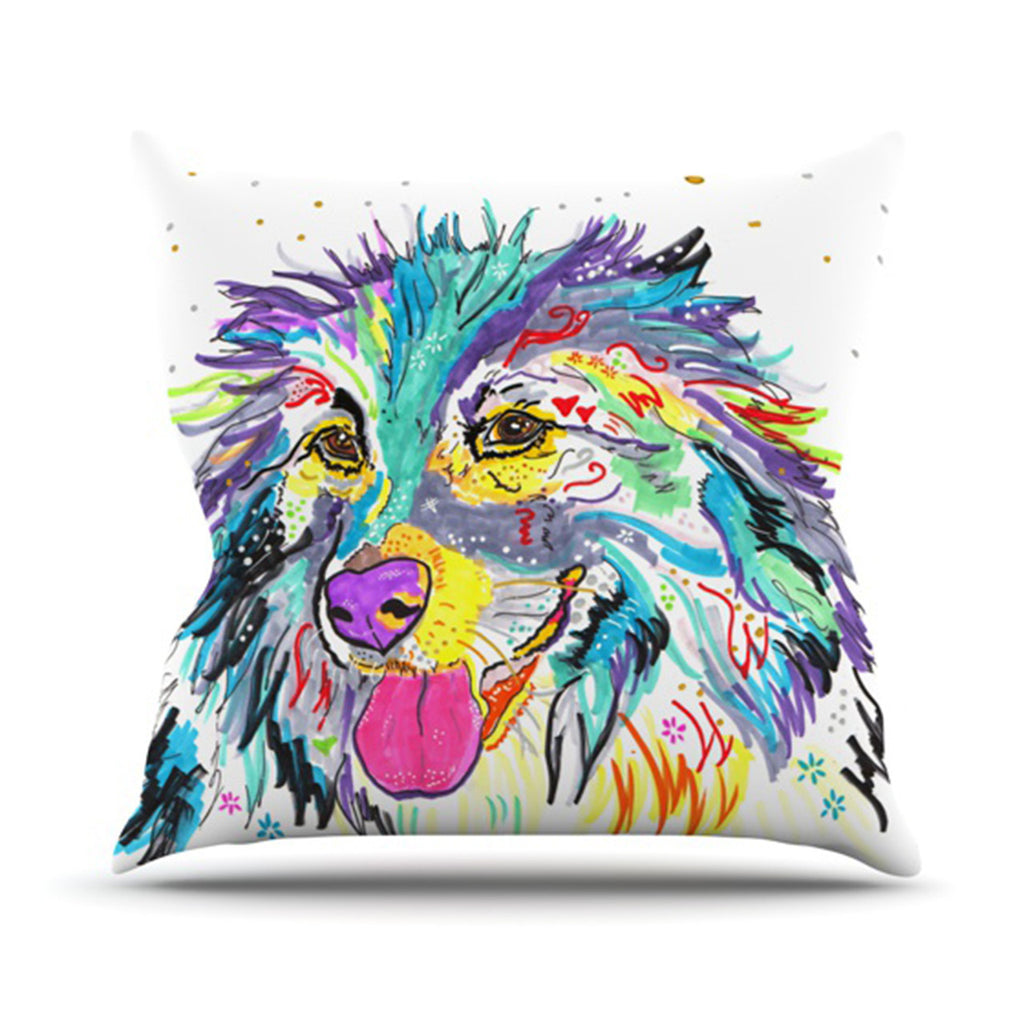 "Rebecca Fischer ""Dally"" Throw Pillow - KESS InHouse  - 1"