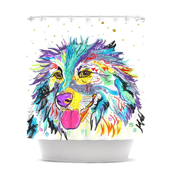 "Rebecca Fischer ""Dally"" Shower Curtain - KESS InHouse"