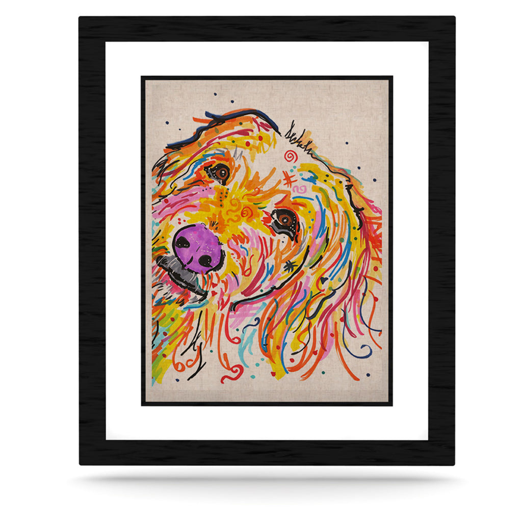 "Rebecca Fischer ""Koda"" Labradoodle KESS Naturals Canvas (Frame not Included) - KESS InHouse  - 1"