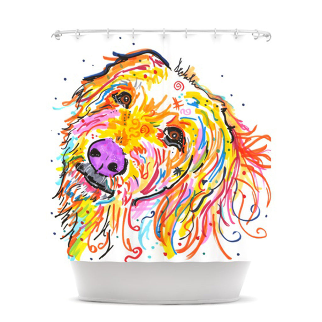 "Rebecca Fischer ""Koda"" Labradoodle Shower Curtain - KESS InHouse"