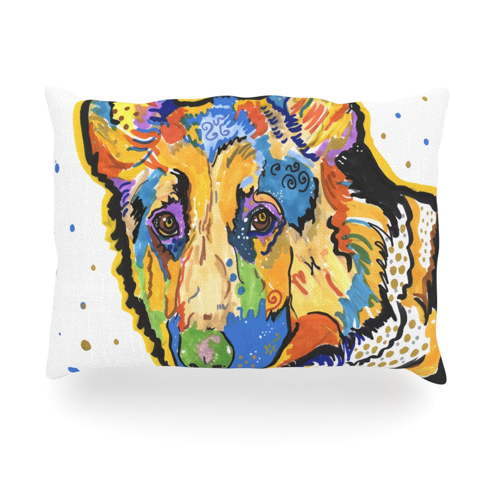 "Rebecca Fischer ""Floyd"" German Shepard Oblong Pillow - KESS InHouse"