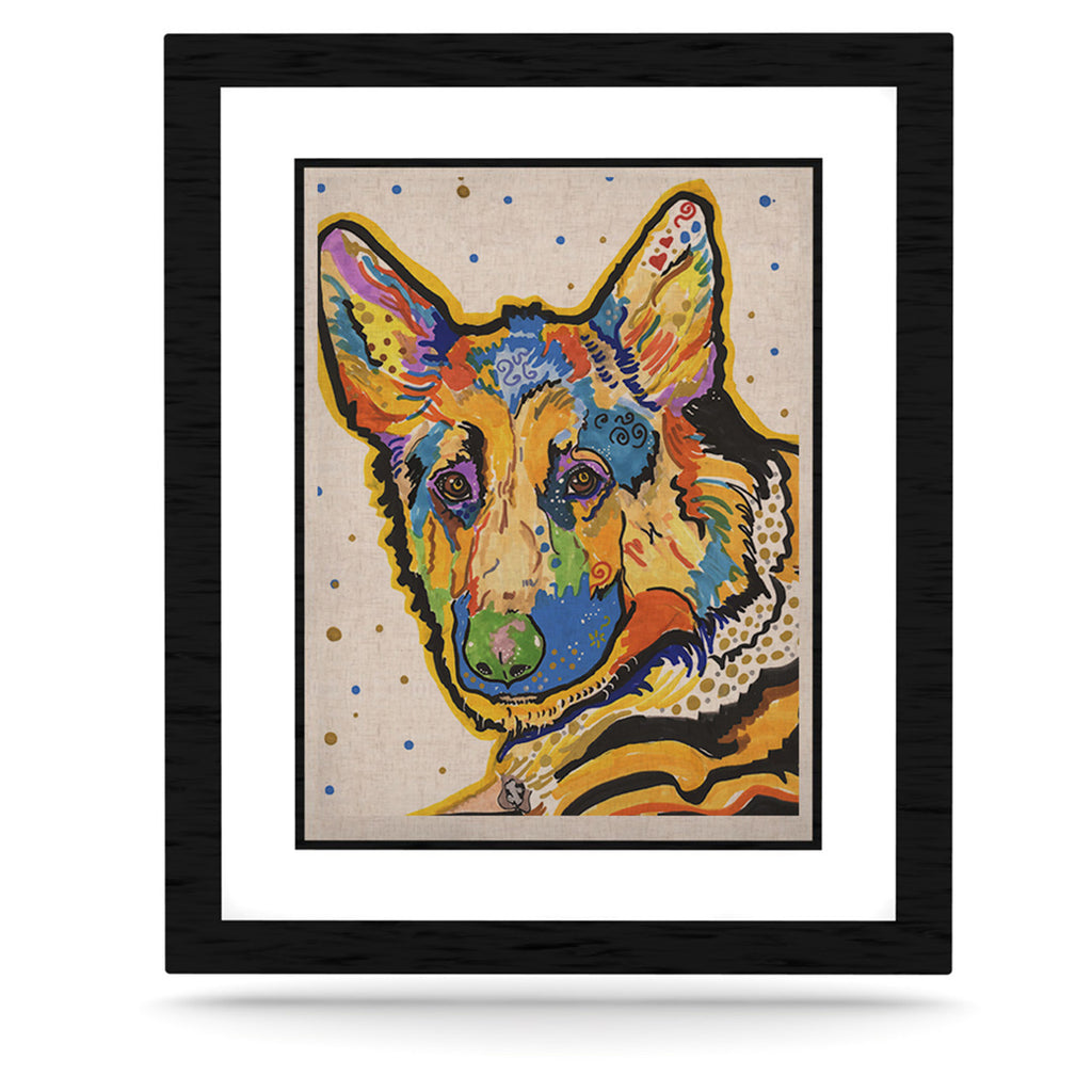 "Rebecca Fischer ""Floyd"" German Shepard KESS Naturals Canvas (Frame not Included) - KESS InHouse  - 1"