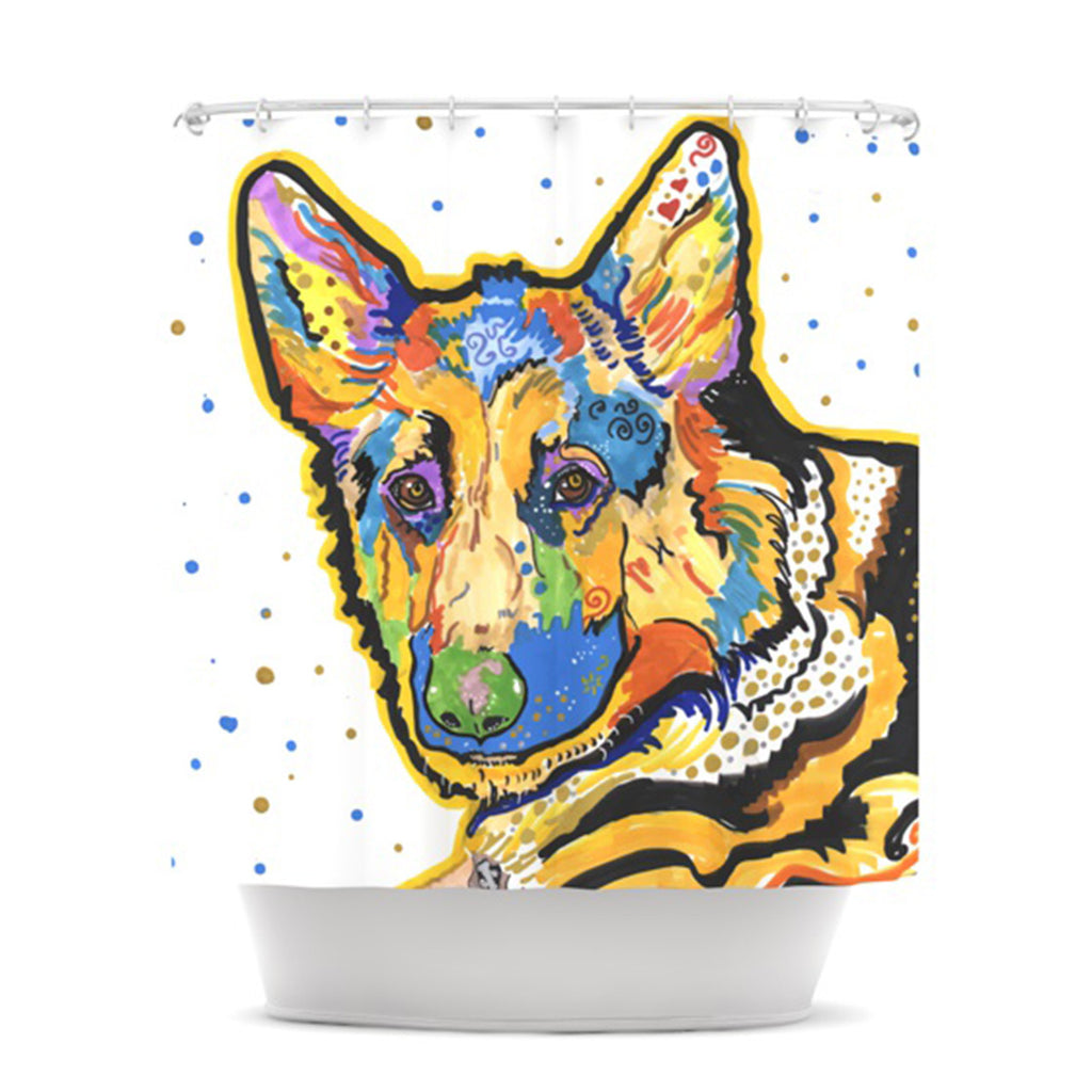 "Rebecca Fischer ""Floyd"" German Shepard Shower Curtain - KESS InHouse"