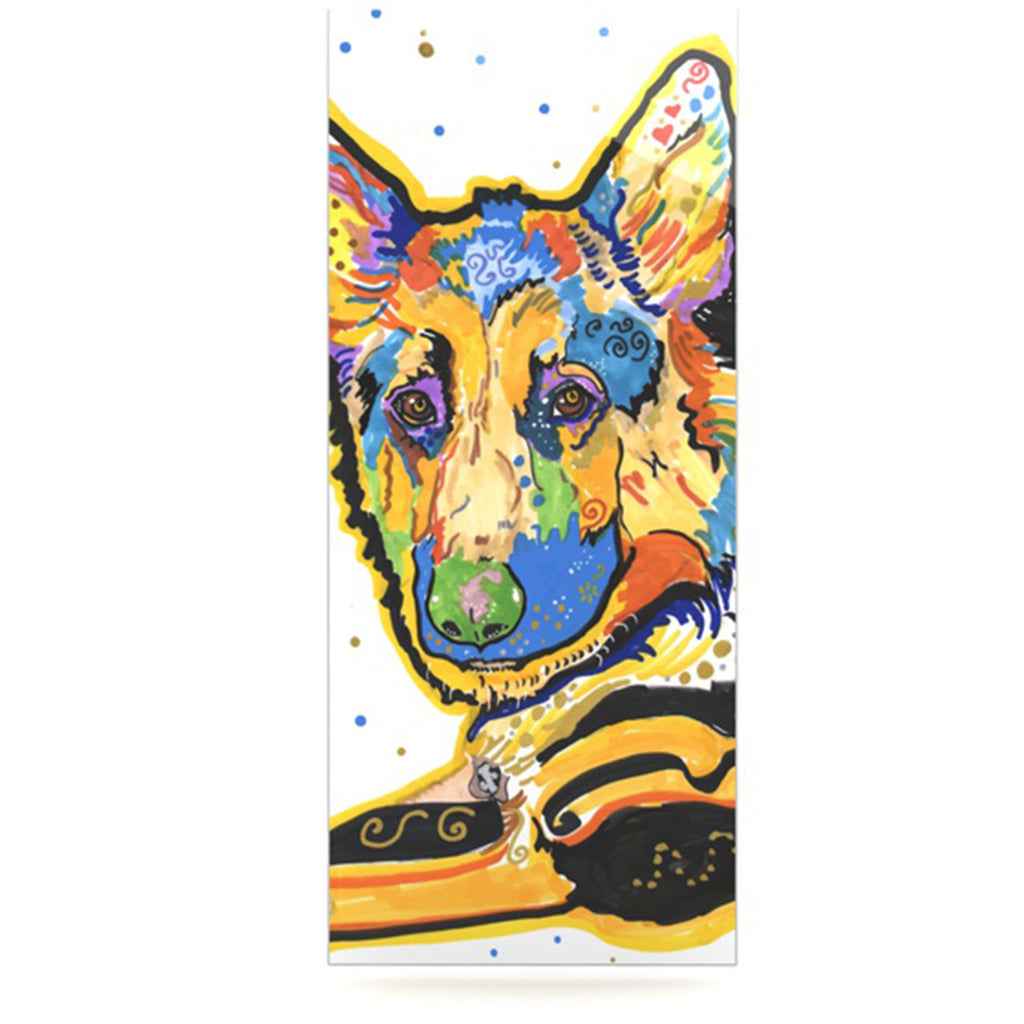 "Rebecca Fischer ""Floyd"" German Shepard Luxe Rectangle Panel - KESS InHouse  - 1"