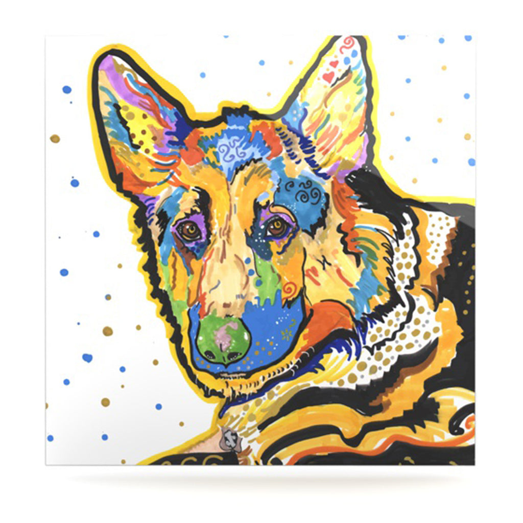 "Rebecca Fischer ""Floyd"" German Shepard Luxe Square Panel - KESS InHouse  - 1"