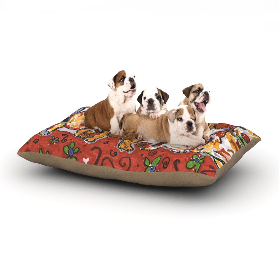 "Rebecca Fischer ""Maksim Murray Enzo Ruby & Willy"" Daschunds Dog Bed - KESS InHouse  - 1"
