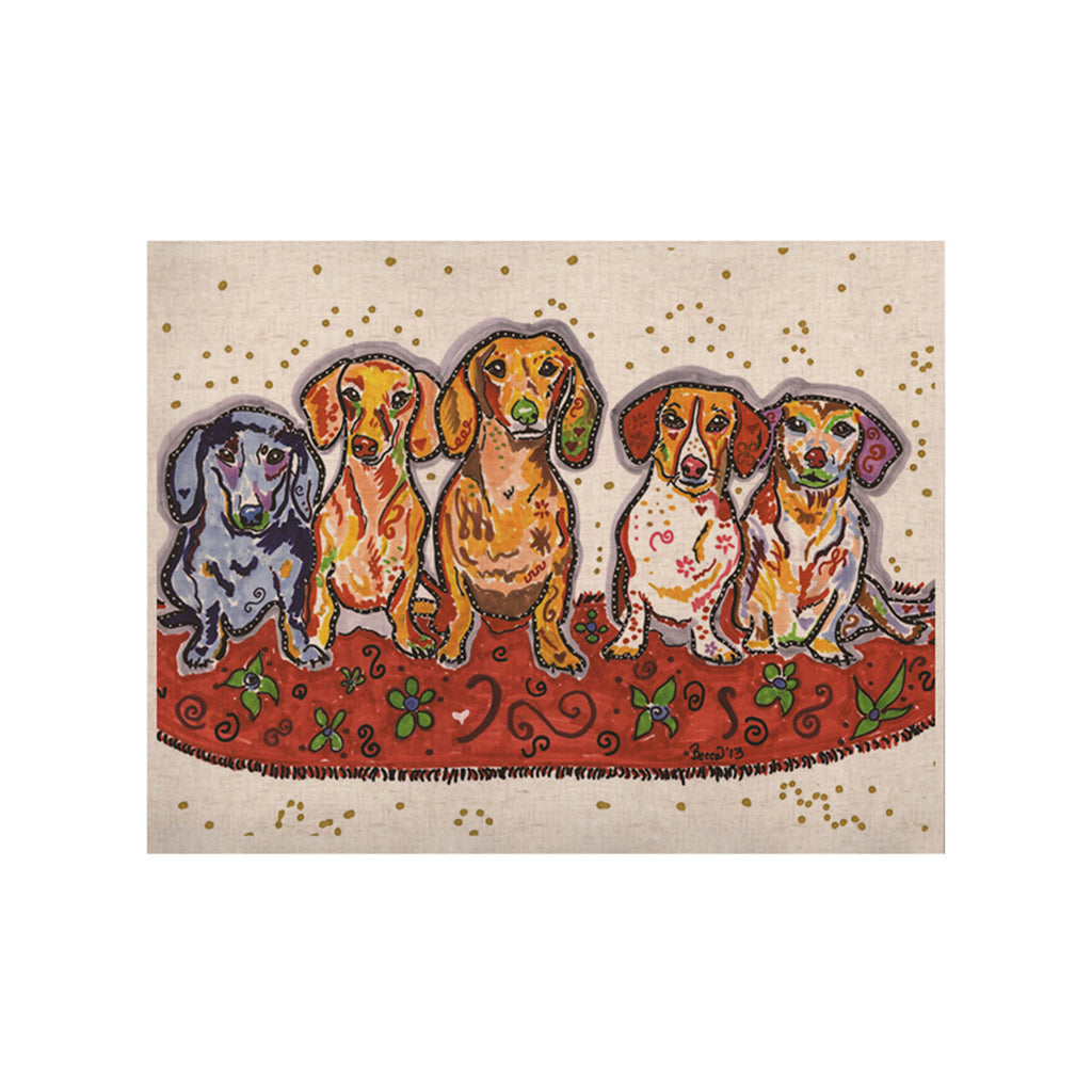 "Rebecca Fischer ""Maksim Murray Enzo Ruby & Willy"" Daschunds KESS Naturals Canvas (Frame not Included) - KESS InHouse  - 1"