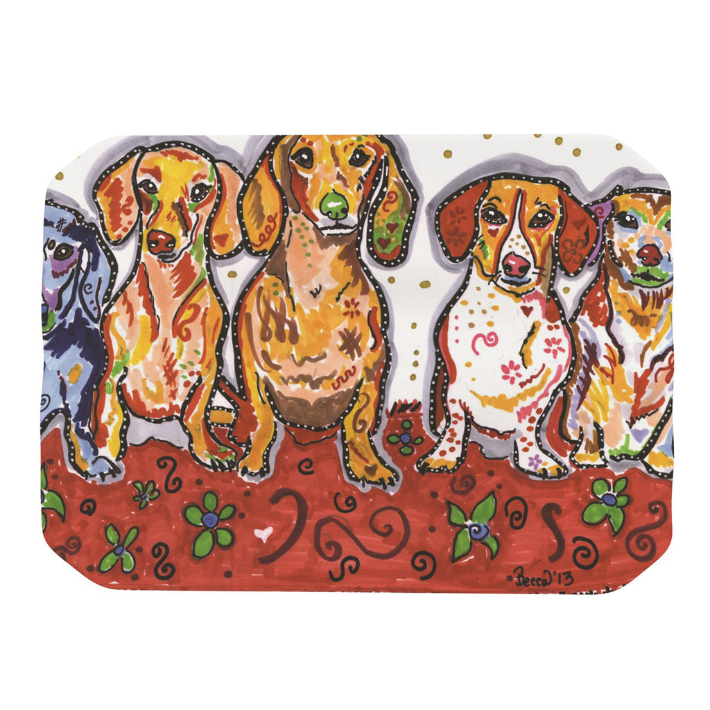 "Rebecca Fischer ""Maksim Murray Enzo Ruby & Willy"" Daschunds Place Mat - KESS InHouse"