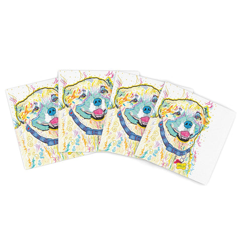 "Rosie Brown ""Gift Wrap"" Multicolor Pastel Indoor/Outdoor Place Mat (Set of 4) - Outlet Item"